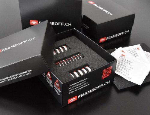 NEU im Sortiment: FRAMEOFF – Magnetischer Kennzeichenhalter